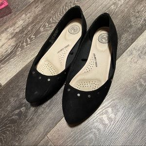 SO Shoes - Studded pointed toe flats